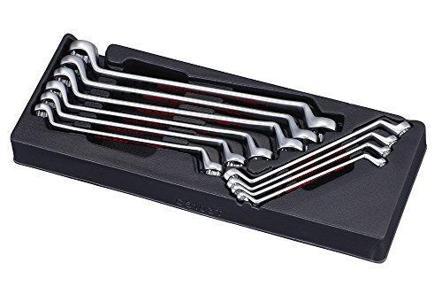 Offset Ring Wrench Set (Pard pac5103t 75Grad Professioneller Offset Ring Schlüssel-Set, schwarz/rot (10))