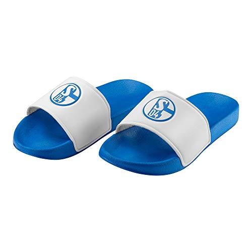 Schalke 04 Badeschuh FC Sticker Gelsenkirchen Forever, Schuhe, Badelatschen, Badeschlappen (40)