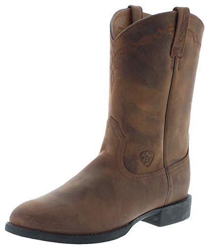 Ariat Damen Cowboy Stiefel 0797 Heritage Roper Brown Westernreitstiefel Braun 38 EU - Distressed Braun Cowboy Stiefel