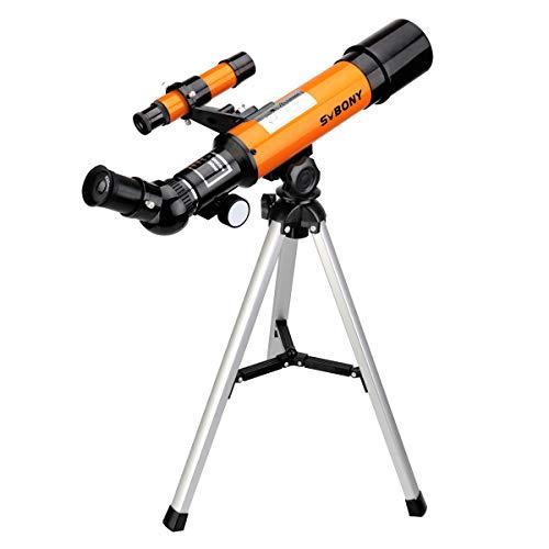 Svbony SV502 Teleskop Kinder Anfänger 50/360mm Astronomisches Teleskop Kinder mit Stativ Astronomie Teleskop für Kinder Anfänger Erwachsene