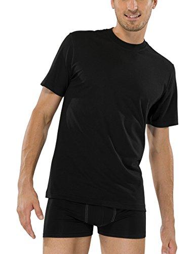 Schiesser Herren Unterhemd American T-Shirts Schwarz (000-schwarz)