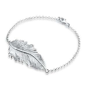 Elli - 0205441812_18 - Bracelet Femme Plume - Argent 925/1000