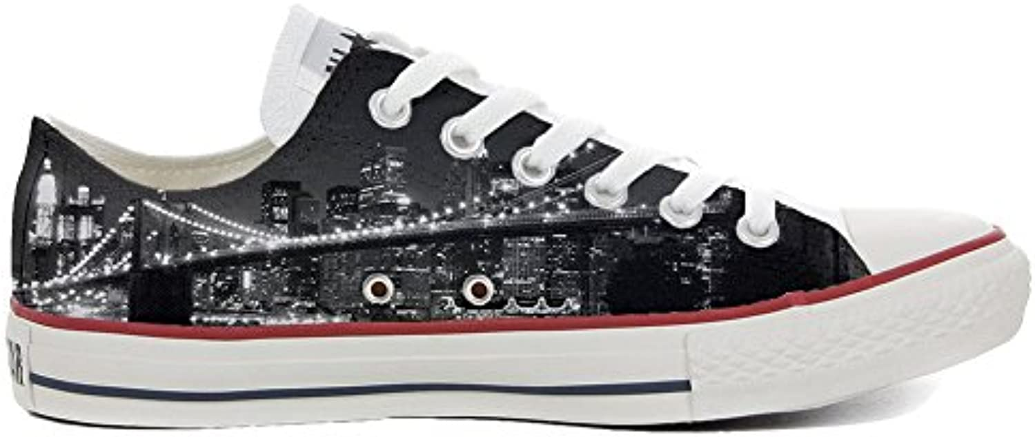 mys Converse All Star Low Customized Personalisiert Schuhe Unisex (Gedruckte Schuhe) Slim Brooklyn