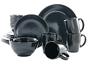 creatable 17544 nero e bianco 16 pezzi set di cena ware black mat set di 16 casa. Black Bedroom Furniture Sets. Home Design Ideas