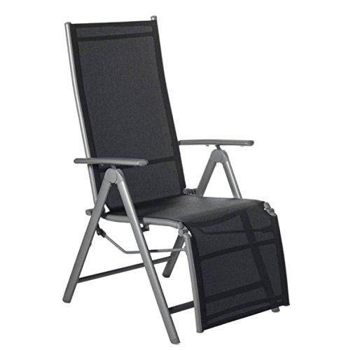 Aluminium REALXSESSEL grau Klappstuhl Sessel Stuhl Relax ca. 59 x 112 x 72 cm ~ds6 761