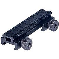 FOCUHUNTER Montaje Vertical de Aluminio 20 mm Weaver/Picatinny Adaptador Base de Montaje de Alcance con Tuerca QD (8.5)