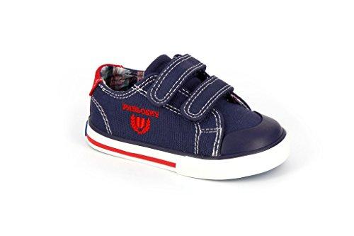 Pablosky 930420, Chaussures avec Velcro Mixte Enfant Le bleu marine