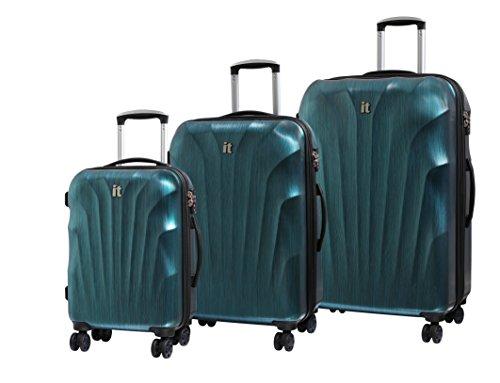 it luggage 3-teiliges Set Momentum 8 Rad Hardshell Single Expander Koffer mit TSA-Schloss Koffer 80 cm, Blue/Black Brushed (Blau) - 16-2176-08GLO3N-M143