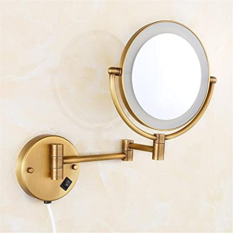 Modylee Specchio cosmetico di alta qualità in ottone massiccio bagno