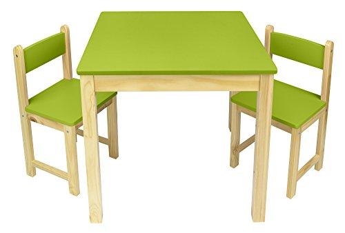 Tisch und 2 Stühlen für Kinder, in grün Kindertisch Kindersitzgruppe Sitzgruppe für Kinder Kinderstuhl