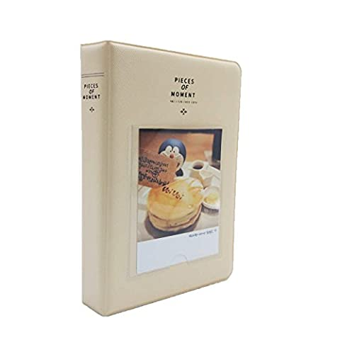[Fujifilm Instax Mini Photo Album] Woodmin 73 Poches Album photo pour Fuji Instantané Mini 70 7s 8 25 50 90, Polaroid Z2300, Polaroid PIC-300P Film (Ivoire)