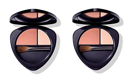 Dr.HAUSCHKA–Blush Duo 01Soft Apricot 2Packungen 5,7g, Rouge 100% Natur, Pigmente...