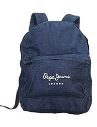 PEPE JEANS - Mochila Denim Backpack, unisex, Color: Indigo, Talla única