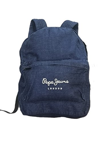 Pepe Jeans - Mochila Denim Backpack, unisex, Color: Indigo, Talla: 12 años