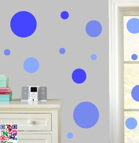 Circles - - Pastel Blues - Wall Art Vinyl Stickers - Easy Peel & Stick by Stickers on Your Wall
