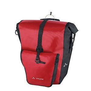 Vaude Aqua Back Plus - Bolsa lateral para bicicleta, color rojo, 2 unidades