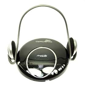 CD Player portabel - CD Player portable, CD Player tragbar, MP3 CD Player mit 120 Sek. AntiSkip und hochwertigen Kopfhörern