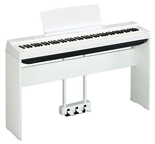 Yamaha P-125WH Stage Piano Homeset (88 tasti dinamici su tastiera (GHS), tracce interne di basso e batteria e funzione tavolo EQ, Set con supporto per home Yamaha e 3 pedali unità) bianco