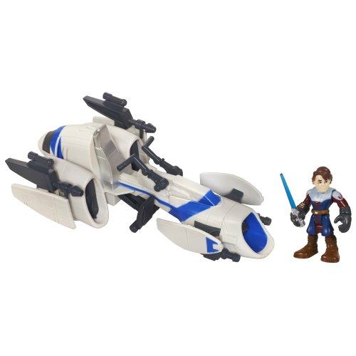 Playskool Heroes - Star Wars - Barc Speeder Bike d'Anakin Skywalker - Figurine et Véhicule