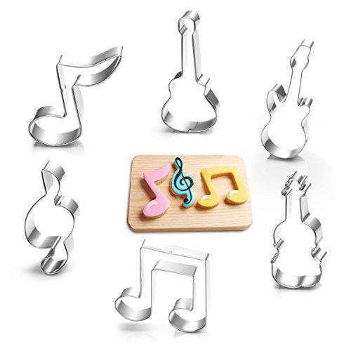 Ausstecher, Profer Plätzchen Keks Kuchen Ausstechform Starter-Set ( 6 Stück ) aus rostfreiem Edelstahl (Musik)