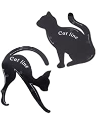 VWH Cat Eyeliner Pochoir Cat eye-liner stencil Template Double Wing Gel Cat Guide Pochoir
