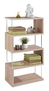 regal b cherregal eiche s gerau jennifer 5 designregal k che haushalt. Black Bedroom Furniture Sets. Home Design Ideas