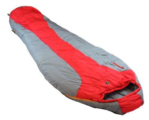 Ledge Sports Featherlite Schlafsack, ultraleichtes Design, ultrakompakt, 84 x 32 x 20 cm, 6448-20F, rot -