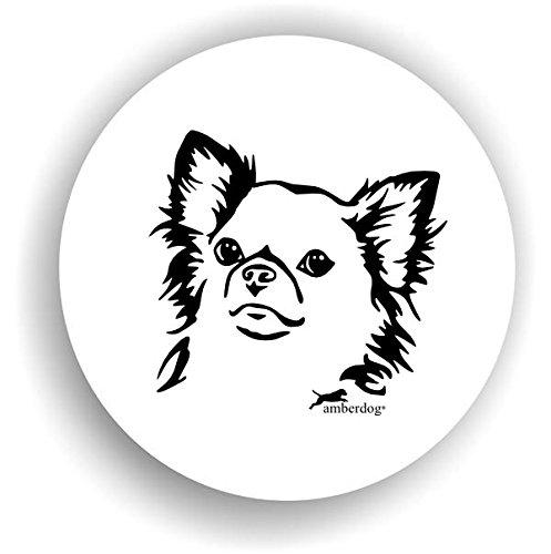 Hunde Chihuahua Langhaar Sticker Auto Aufkleber Art.STK0131 Autoaufkleber Aufkleber Wohnmobil Wohnwagen amberdog