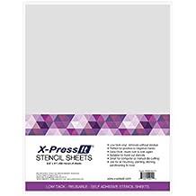 COPIC Marker x-press ES Schablone Blatt 21,6x 27,9cm 4/Pkg, andere, mehrfarbig