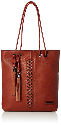 Bulaggi Damen Perov Shopper Tote, Orange (Burnt Orange), 36x12x31 cm