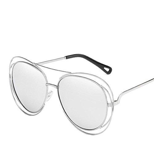 Aoligei Metall-Double Circle aushöhlen solar Brille Gezeiten Ozean Strömungsfilm Sonnenbrille Dame Persönlichkeit Sonnenbrille shing fF09STXsxV