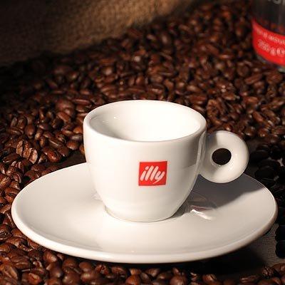 Illy Kaffee Espressotasse mit Untertasse