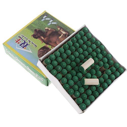 perfk 100 Stück Billard Pool Queue Tipps Cue Spitze Schut Kappe aus Leder + Kunststoff - 9 mm -