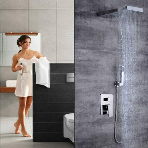 BTdahong - Sistema de ducha empotrado, termostato, ducha de lluvia, alcachofa de...
