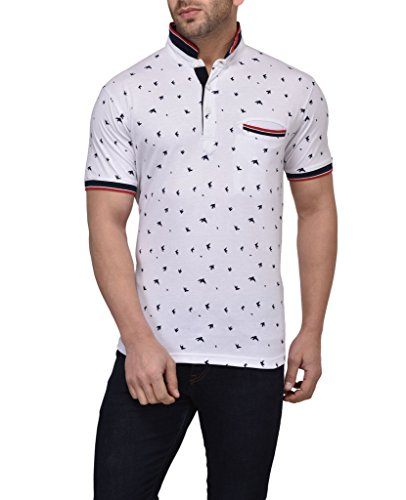 Vivid-Bharti-Mens-Birds-Printed-Half-Sleeve-Polo-T-shirt