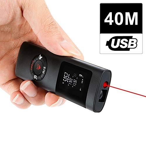 Tragbare Mini-Handheld-40M Smart-Digital-Entfernungsmesser Range Rangefinder USB-Ladedistanzmessgerät
