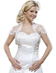 Braut Jacke aus Spitze, Bolero zum Brautkleid, kurze Ärmel
