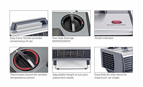 Eveready HC2000 2000-Watt Room Heater (Black)