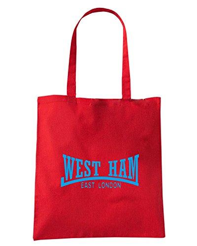 T-Shirtshock - Borsa Shopping OLDENG00788 west ham east london 2 Rosso