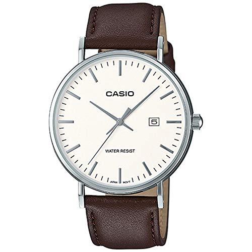 Casio Mixte Analogique Quartz Montre avec Bracelet en Cuir MTH-1060L-7AER