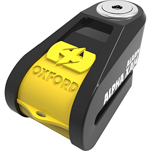 Motorcycle Oxford Alpha XA14 Disc Lock Alarmed 14mm Pin Yellow