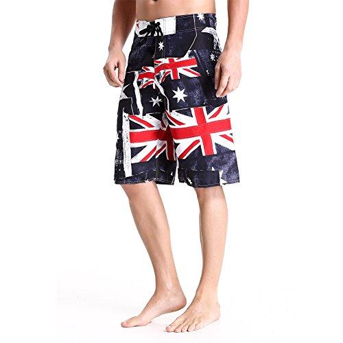 Herren ¡fördern S kurz, Sport im Freien Kleidung, Wasser Sport Bademoden, Badehose, Hawaii Shorts Clothin - American Flag