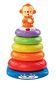 VTech Baby Stack and Discover Rings - Multi-Coloured