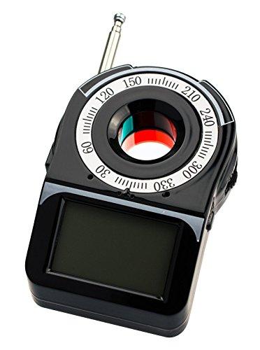 Wanzenfinder Wanzendetektor Spionfinder KG18 CC-309, Displayanzeige, Akkubetrieben, 2 Alarmfunktionen, Linsenerkennung mit starkem Rotlicht von Kobert - Goods
