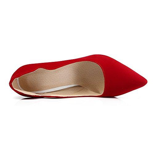 Guoar - Scarpe chiuse Donna Rot Samt