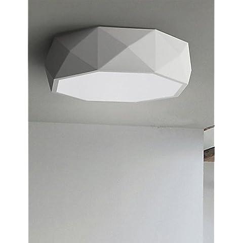 Las luces del techo colgante geométricas luces LED Lámparas de 20 W de luz blanca moderna concisa , Blanco