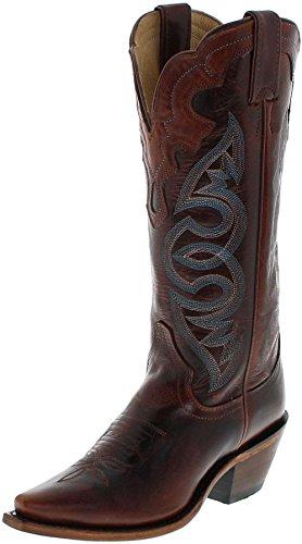 Justin Boots L4331 C Saddle Torino/Damen Westernreitstiefel Braun/Damenstiefel/Reitstiefel/Western Riding Boots, Groesse:35 (5 US) - Justin Western Cowboy Stiefel