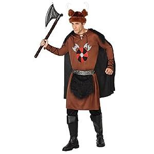 Atosa-26876 guerrero Disfraz Vikingo, color marrón, M-L (26876)