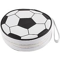 Cierre de cremallera diseño de balón de fútbol 24 piezas de almacenamiento porta CD de VCD
