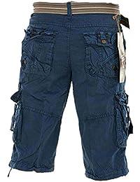 Carg Herren beiläufige Baumwolle Sommer Umgeschnallter Cargo Shorts Trouser Hosen